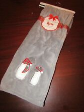 luxe plush blanket throw 50x60 nwt penguins with scarves gray