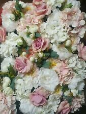 Artificial Flowers Wall Panel 60x40cm Floral Wedding Background Home Decor