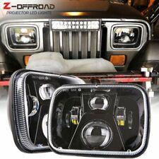 2Pcs 110W 5x7 LED Headlights 7x6 Sealed Beam Headlamp High Low Beam H6054 6054