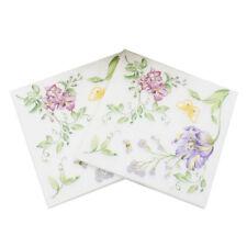 Party napkins printed flower paper napkins for party supplies decor 20Pcs JP