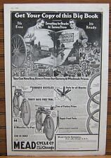 1920 MEAD RANGER Bicycle Ad Print  - BIG BOOK Offered