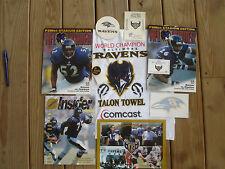Baltimore Ravens Memorabilia Lot Rare Items Includes Ray Lewis Jonathan Ogden