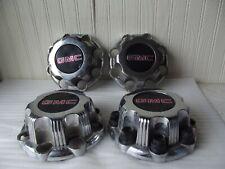 4 GMC Sierra 1500 2500 Yukon XL 1999-2010 Center Caps Chrome OEM 957169 Lot of 4