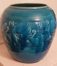 Rare Cowan Vase, Paul Bogatay attr., Egyptian Blue