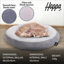 Hoppa Petit Souple Chat Animal Lit Panier Peluche Rond Donut Lavable en Machine