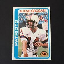 1978 Topps STEVE GROGAN #485  New England Patriots  Kansas State Wildcats