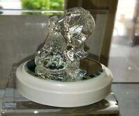New Disney Parks Arribas Beauty & The Beast Dancing Blown Glass Figure on Base