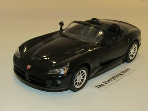 WELLY 2003 DODGE VIPER SRT-10 GLOSS BLACK TOP DOWN PREOWNED FREE SHIP