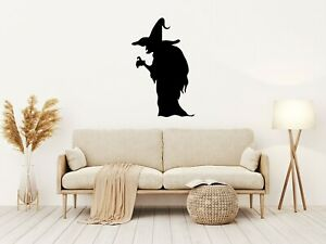 Halloween SPOOKY WITCH Vinyl Decal Sticker Window Wall Decoration Spooky Party A