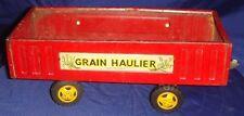 GL097 Vtg Tin Toy Farm Grain Haulier Made In Japan