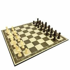 CHESS SET 36 cm Fold-out Wood Laminated - Endorsed by KASPAROV - Travel School