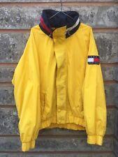 Vintage Yellow Tommy Hilfiger Light Windbreaker Jacket Size XL