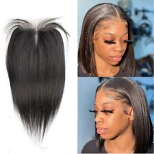 1pc Top lace Frontal Straight human hair 4*4 lace hand made&machine weft closure