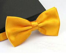 Fashion Men's Tuxedo Satin Plain Solid Color Adjustable Wedding Bowtie Bow Tie
