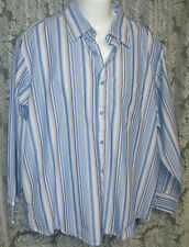 Men's Striped Shirt size XL, 35 sleeve, blues plus by Eighty-Eight Co,