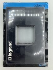 Legrand Adorne Awp1G2Gr6 Gang Wall Plate - Graphite- New In Box, Ships Free
