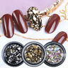 3D Shiny Mixed Nail Art Rhinestones Crystal Gems Jewelry Gold AB Stones Decor