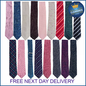 Mens Ties Necktie Red Blue Black Pink Grey Paisley Striped Spotted Textured Tie