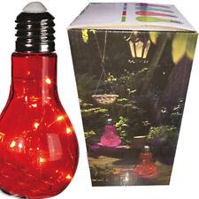 Grande Lampe Ampoule LED design à Poser - 23 cm -  Rouge - En Verre