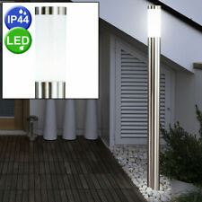 LED Außen Steh Lampe Garten Weg Beleuchtung Edelstahl Terrassen Stand Leuchte