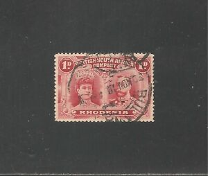 Rhodesia #102 (A12) SG #123 VF USED - 1910 1p Queen Mary and King George V