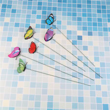 Lovely Butterfly on Sticks Home Decor Garden Vase Art Lawn Craft Decoration SE