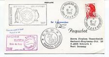 TAAF Terres Australes et Antartiques Fr. M Dufresne Polar Antarctic Cover SIGNED