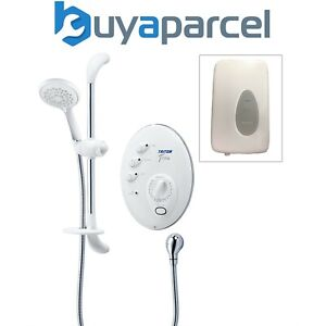 Triton T300si 9.5kw Remote Digital Electric Shower White Chrome + Power Pack