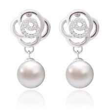 Durchzieher Ohrringe aus Sterlingsilber mit Perlen