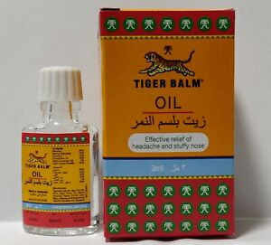 Tiger Balm Liniment Oil Pain Massage effective Relief 3ml  headache, stuffy nose