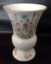 "Aynsley Fine Bone China Wild Tudor Vase - 8"" Tall"