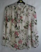 Ladies new ex george Ivory floral  blouse size 16 20