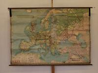 Wirtschaft-Wandkarte von Europa 214x157cm ~1910 vintage economy europe wall map