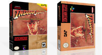 - Indiana Jones Greatest Adventure SNES Game Case Box + Cover Art work Only