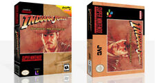 Indiana Jones Greatest Adventure SNES Game Case Box + Cover Art work (No Game)