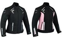 Damen Motorrad Roller Wasserdicht Jacke Touring Motorrad Textil Jacke Neu
