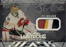 Calgary Flames 17/18 UD Black Jon Gillies Lustrous Rookies Patch Auto /65