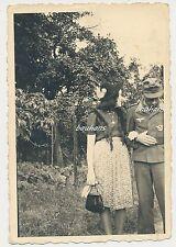 Foto Flugzeugführer mit Orden und Frau  2.WK (f747)
