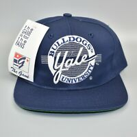 Yale Bulldogs Vintage 90's The Game Circle Script Snapback Cap Hat - NWT