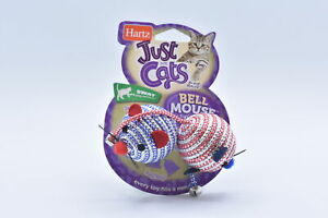LOT OF 3 Hartz Just for Cats Swat Bell Mouse Cat Toy, Blue / Pink