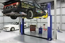 HAPP70 - WH&S approved - 4 Tonne Two Post - Floor Plate - Car hoist - Aus Stands