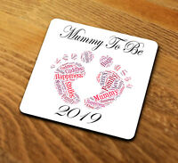 Coaster Gift Mummy To Be 2019 MTB101 Baby Thank You Best Mum Mom Mother Day