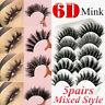 5Pairs 3D Natural Mink False Eyelashes Long Thick Mixed Fake Eye Lashes Makeup
