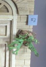 Dollhouse miniature 1/12th scale stag-horn fern on driftwood slice #2