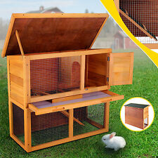 "Waterproof Wood Wooden 36"" Rabbit Hutch Chicken Coop Hen House Poultry Pet Cage"