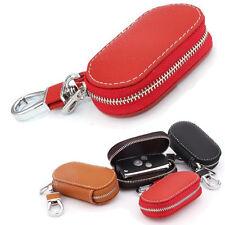KFZ Fernbedienung Etui Schlüssel Tasche Schlüssel Gehäuse Rot PU Leder Key Bag