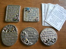 Ganz Family Mother Grandmother Inspiration  Lot of 5 Pocket Tokens Charms