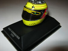 1:8 HELM Driver R. Schumacher 1997 Jordan MINICHAMPS in showcase