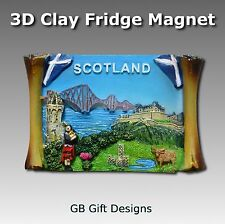 3D Scotland Fridge Magnet Scottish Flag Edinburgh Castle Gift Souvenir