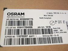 100 x LED OSRAM LT M673,LTM673,echt grün 529nm, 10mA,3V 90mcd 100 St.= 4,98 €